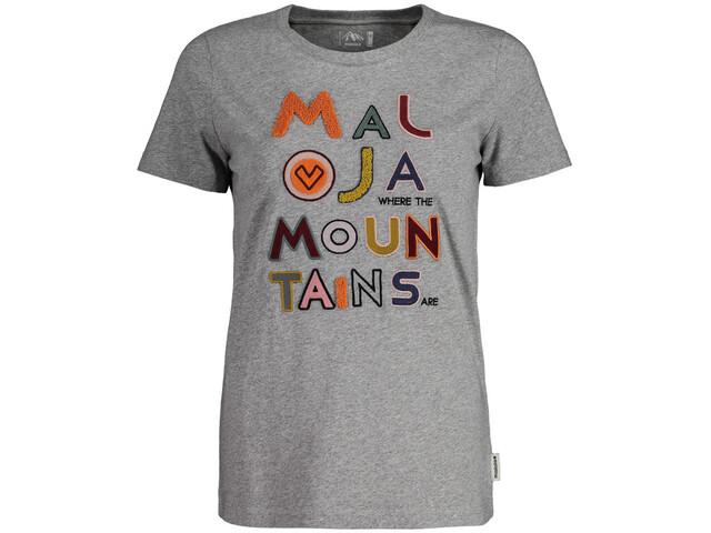 Maloja BiascaM. T-shirt Dames, grey melange